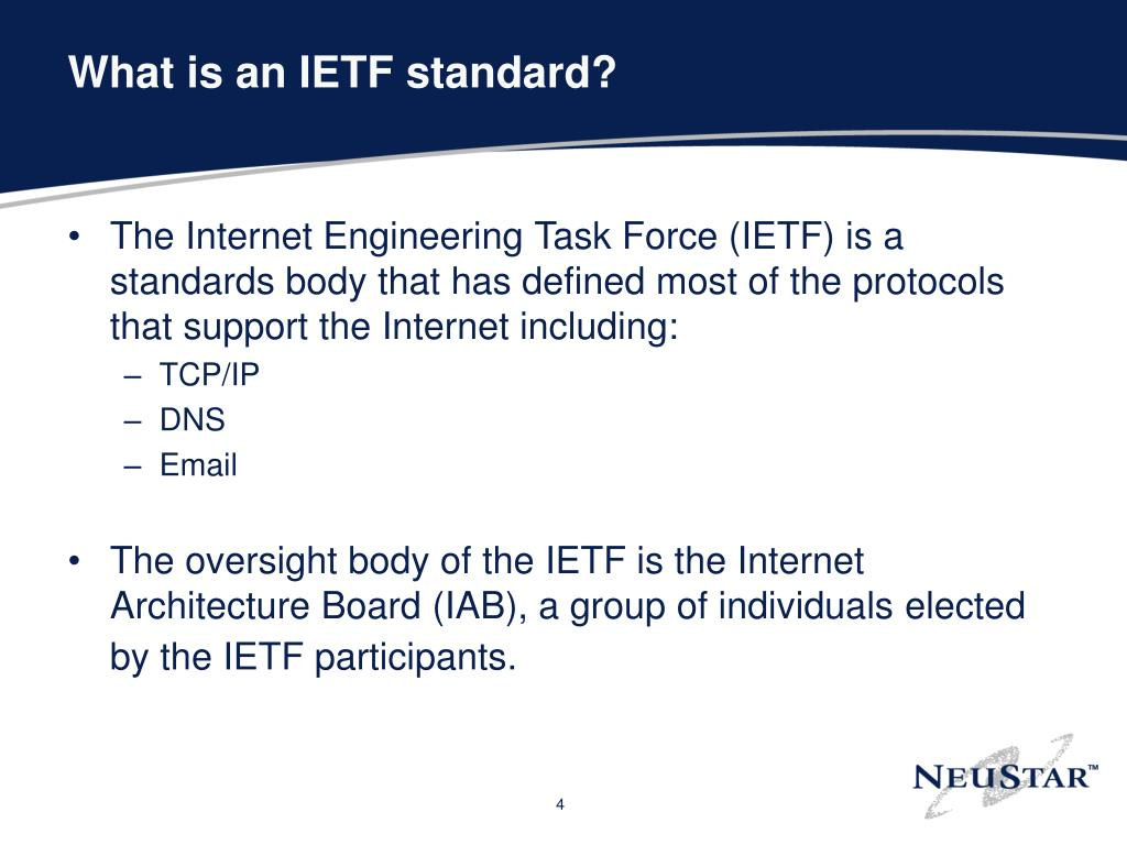 What is an IETF standard?