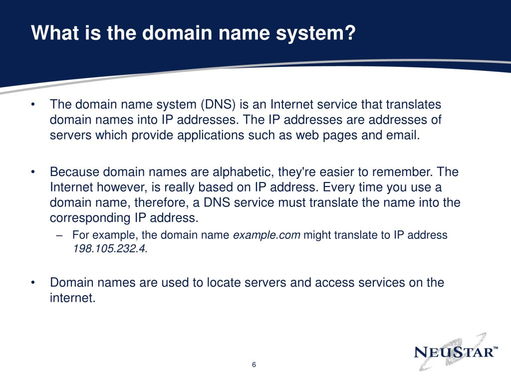 What is the domain name system?