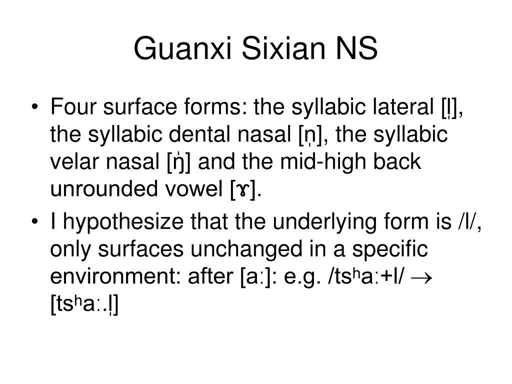 Guanxi Sixian NS