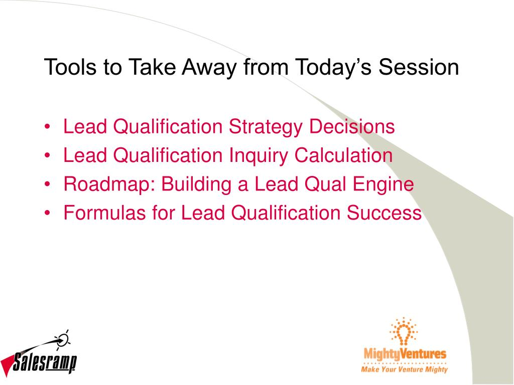 Tools to Take Away from Today's Session