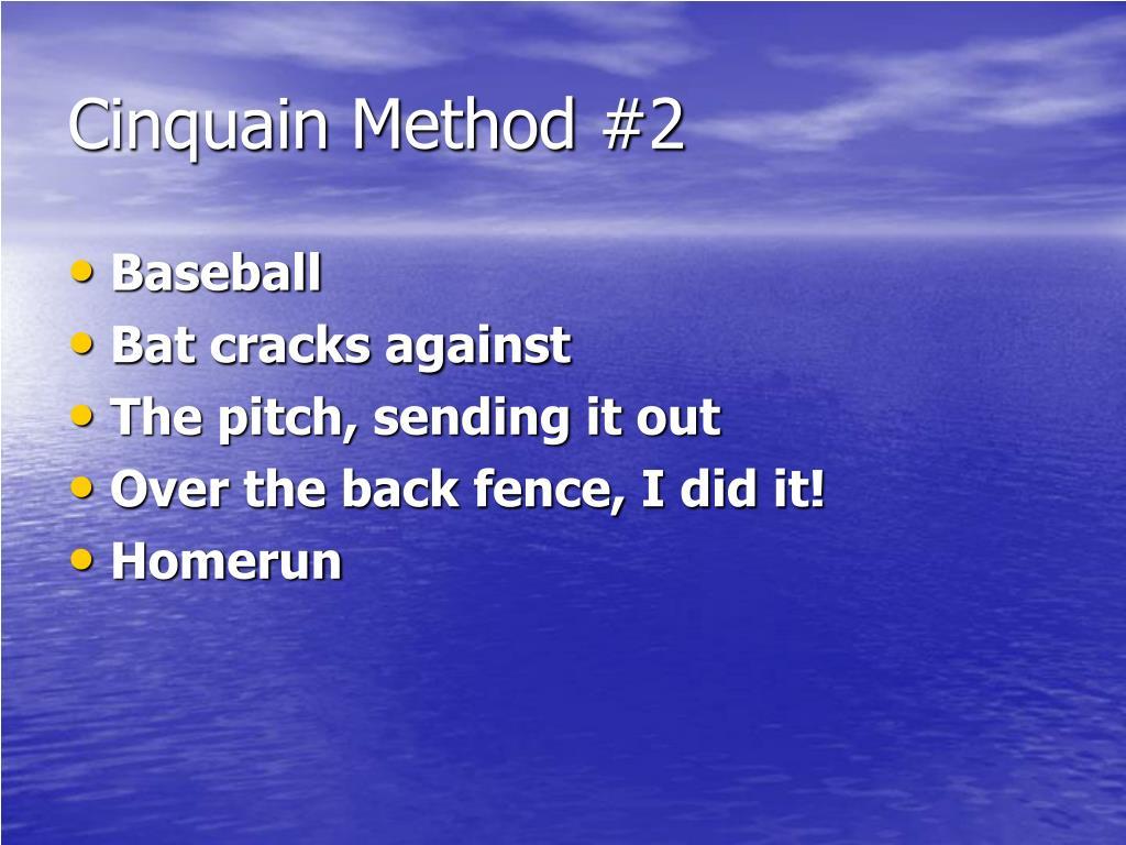 Cinquain Method #2