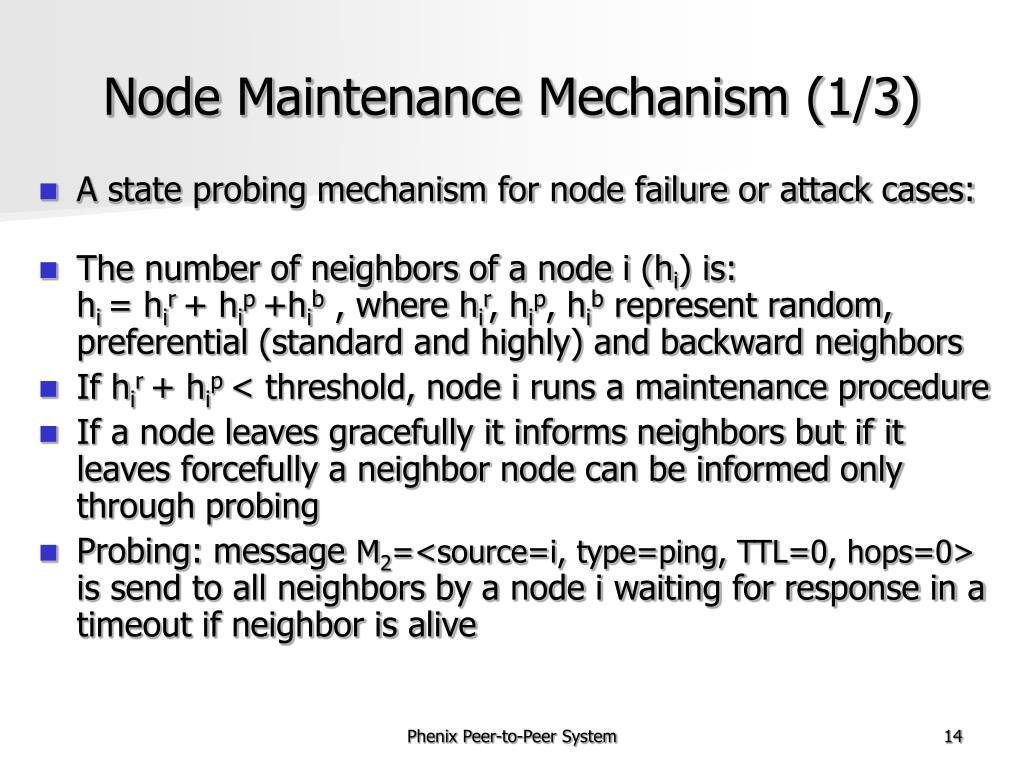 Node Maintenance Mechanism (1/3)