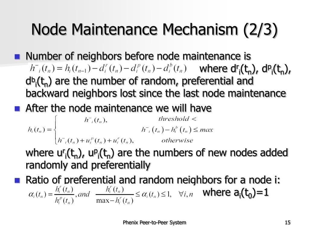 Node Maintenance Mechanism (2/3)