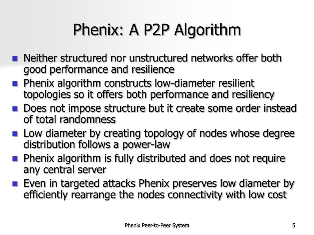 Phenix: A P2P Algorithm
