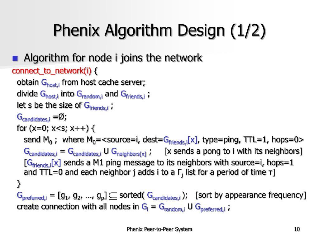 Phenix Algorithm Design (1/2)