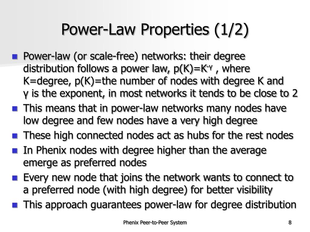 Power-Law Properties (1/2)