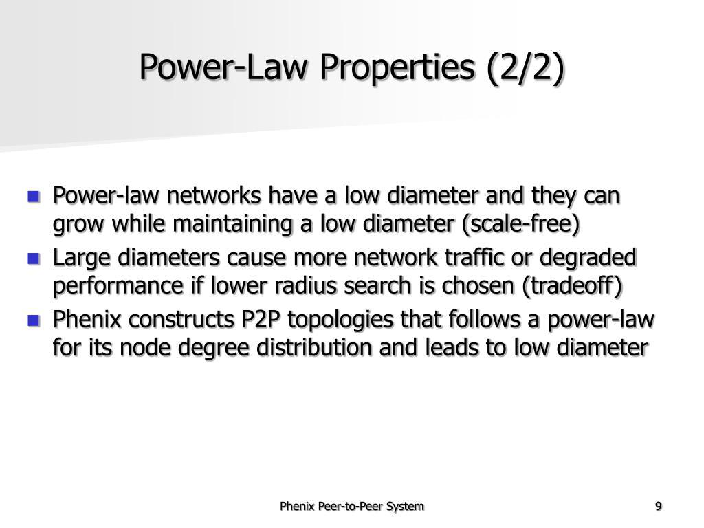 Power-Law Properties (2/2)