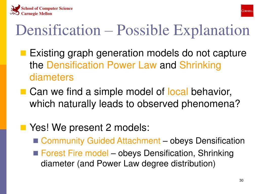 Densification – Possible Explanation