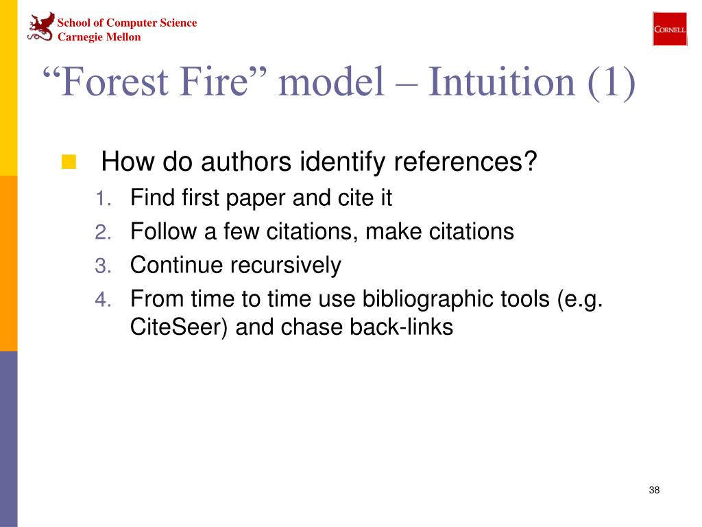 """""""Forest Fire"""" model – Intuition (1)"""