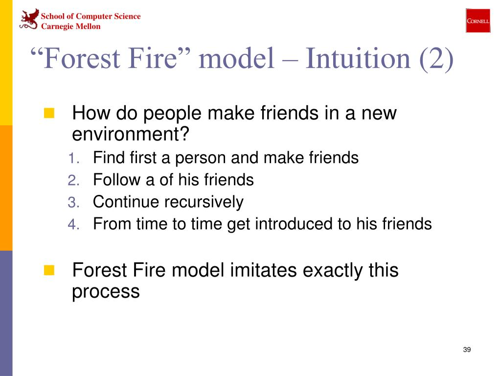 """""""Forest Fire"""" model – Intuition (2)"""