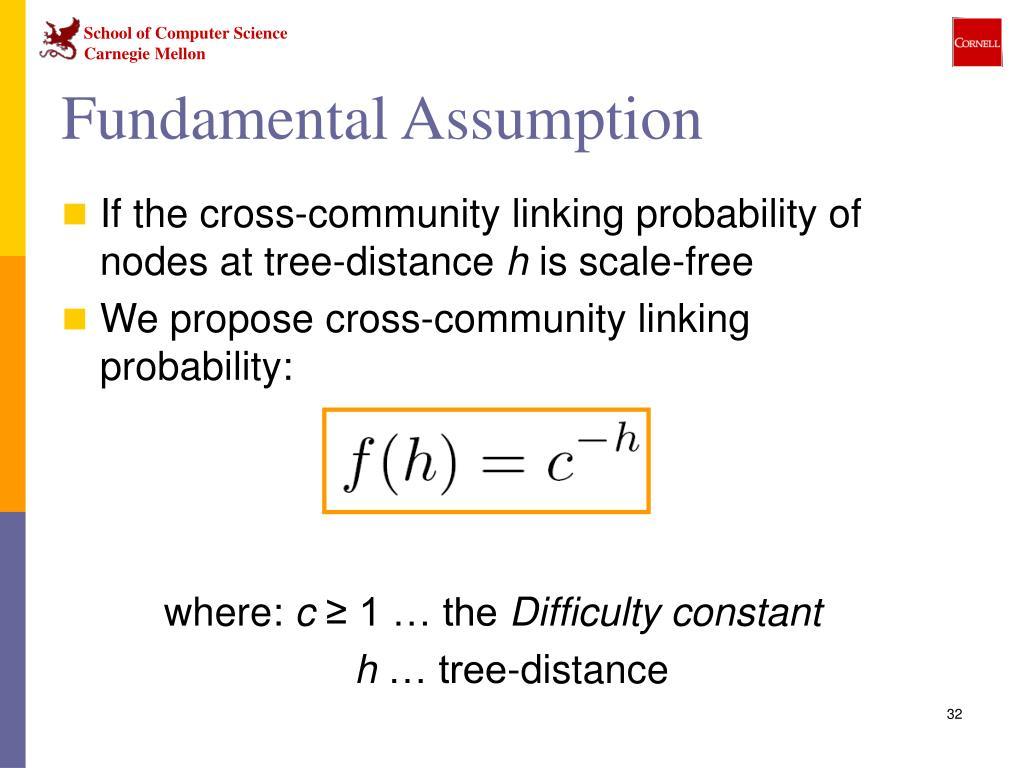 Fundamental Assumption