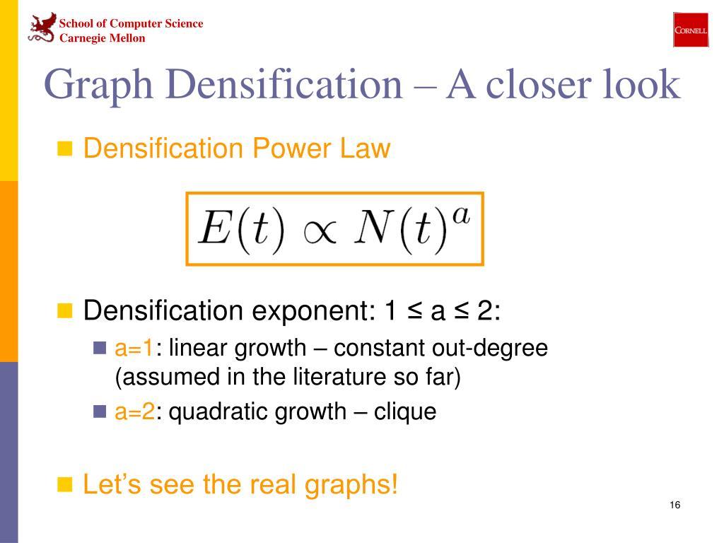 Graph Densification – A closer look