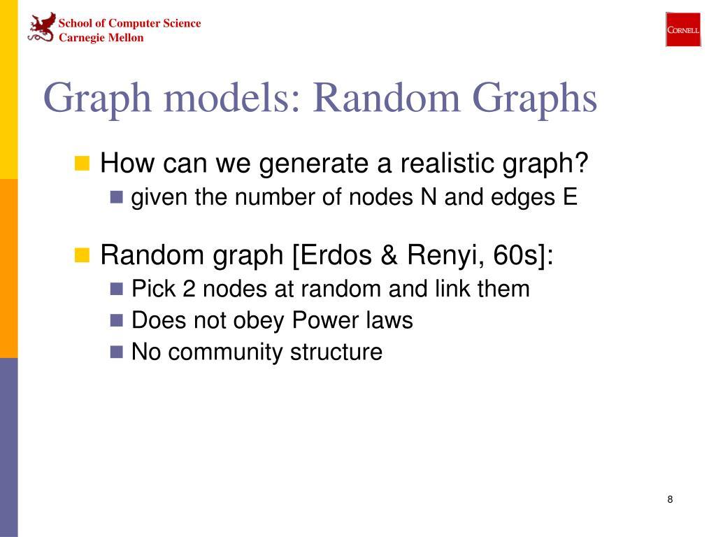 Graph models: Random Graphs
