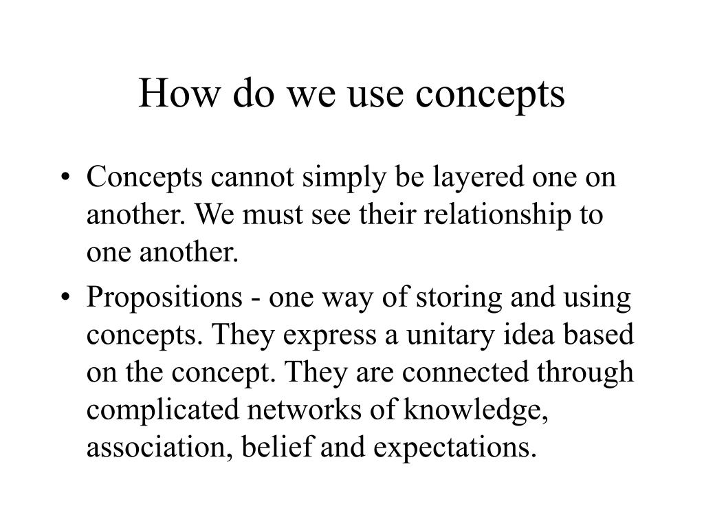 How do we use concepts