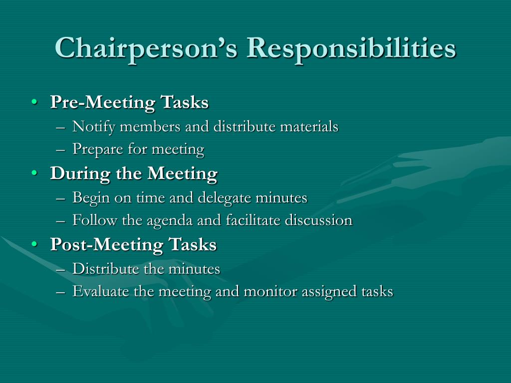 Chairperson's Responsibilities