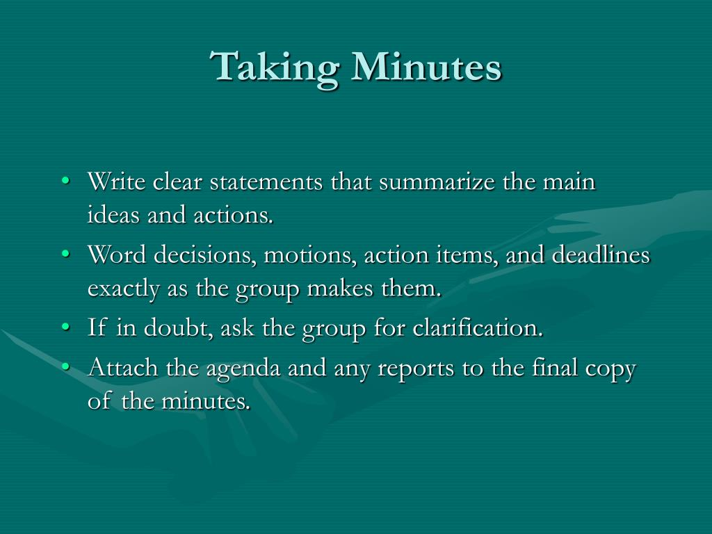 Taking Minutes