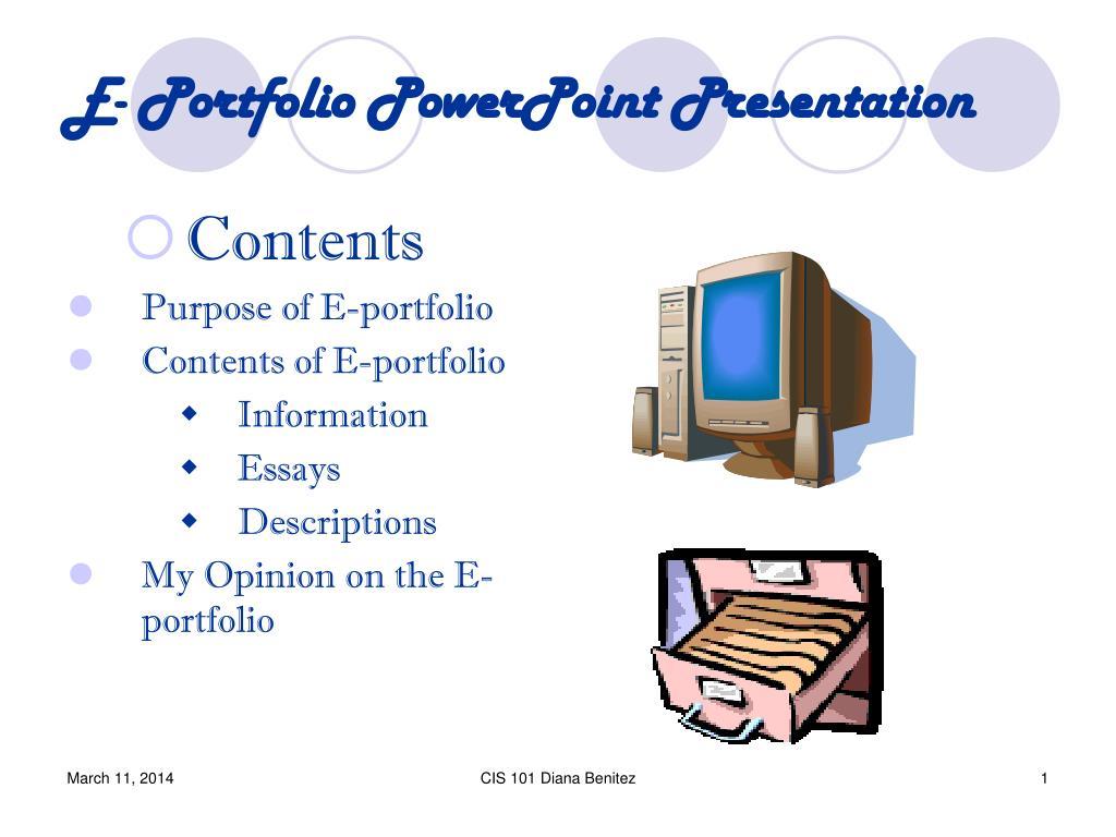 E- Portfolio PowerPoint Presentation