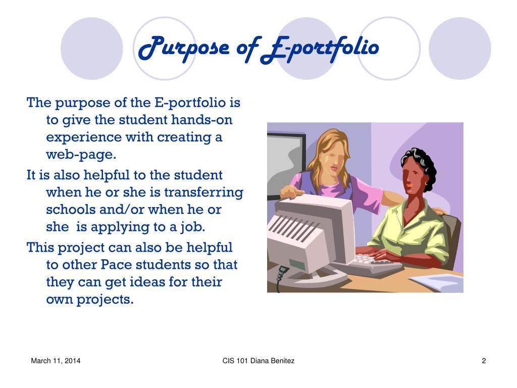 Purpose of E-portfolio