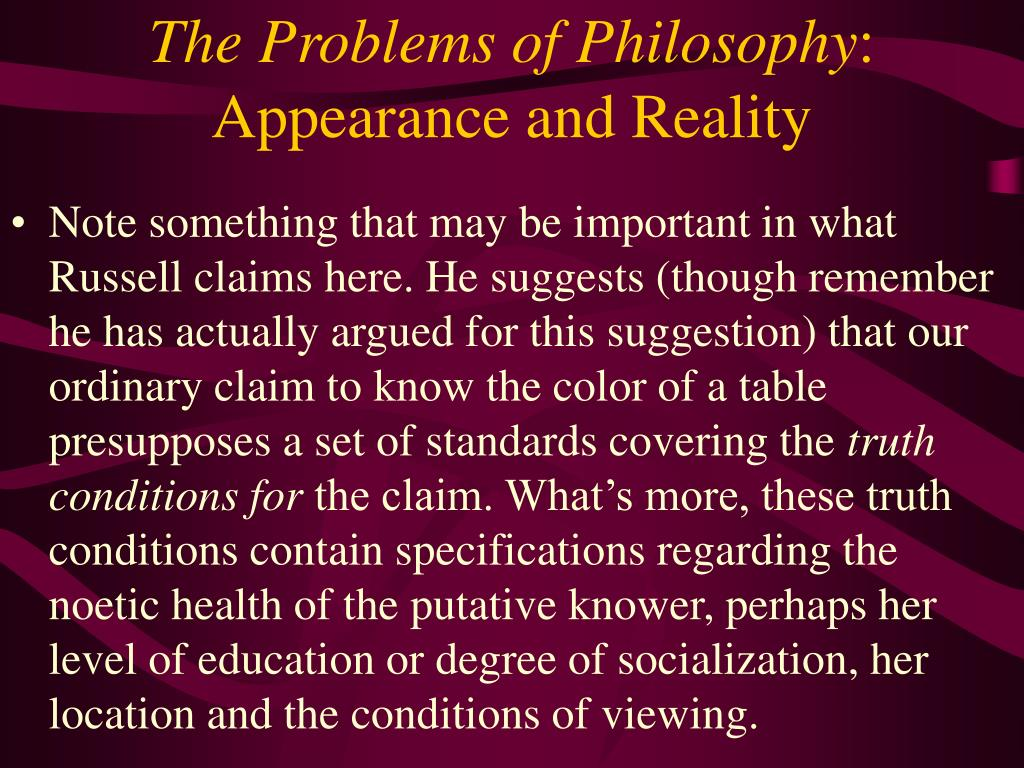 The Problems of Philosophy