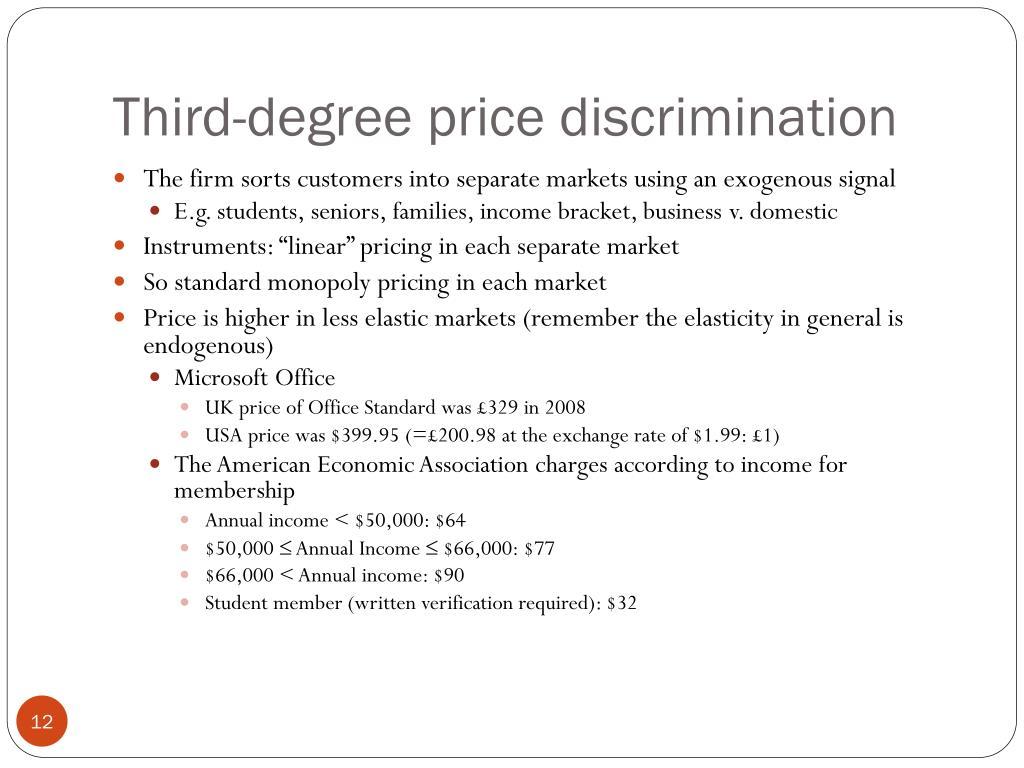 PPT - Price Discrimination PowerPoint Presentation