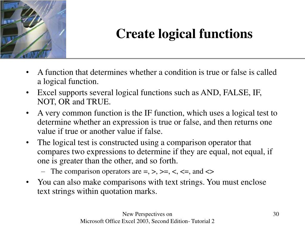 Create logical functions