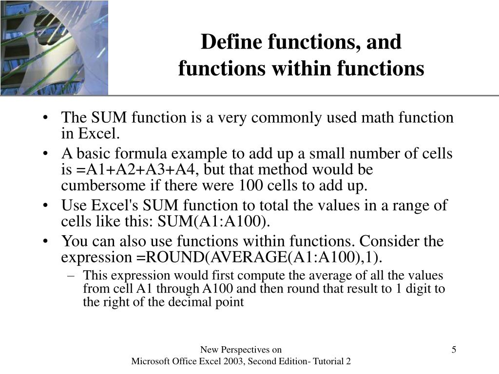 Define functions, and