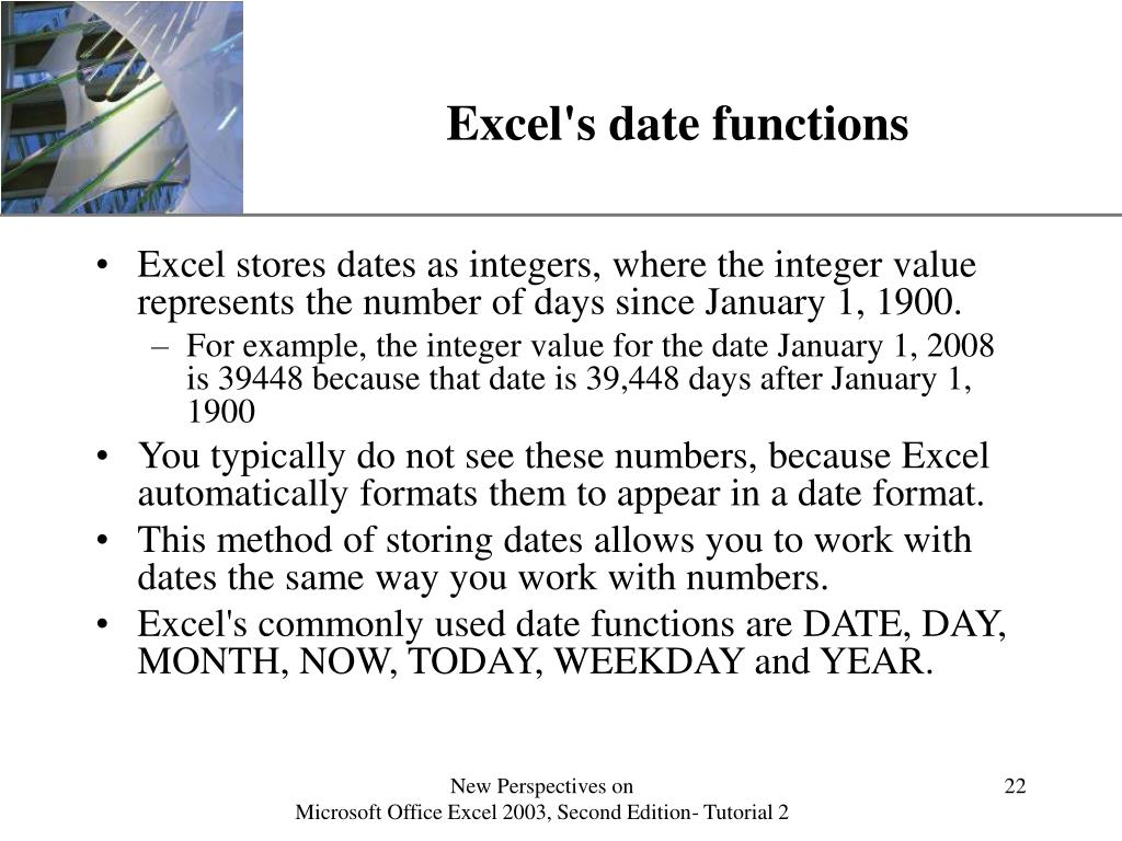 Excel's date functions