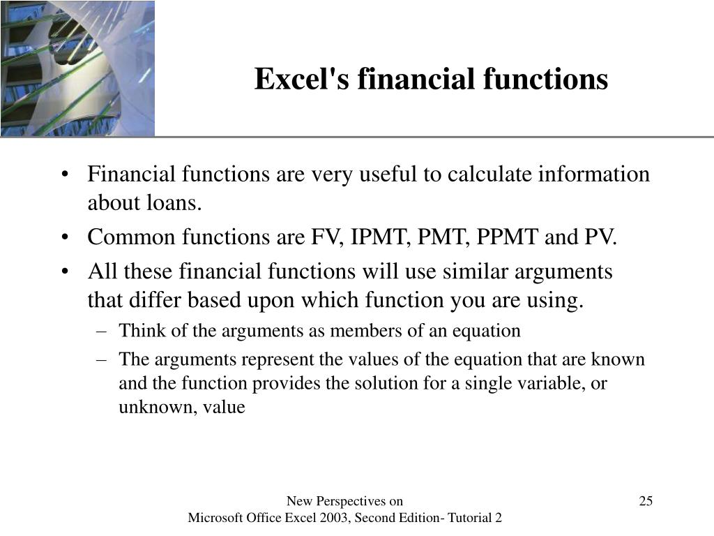 Excel's financial functions