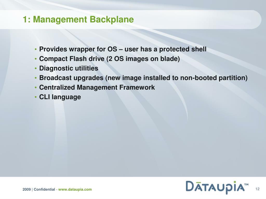 1: Management Backplane