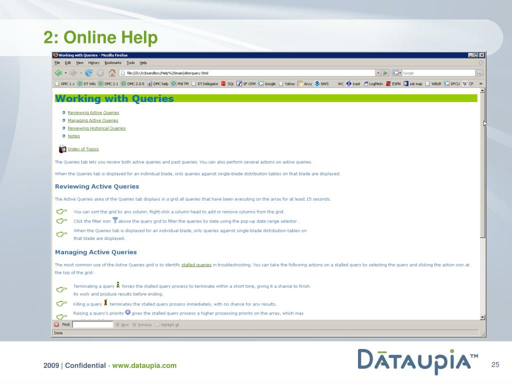 2: Online Help