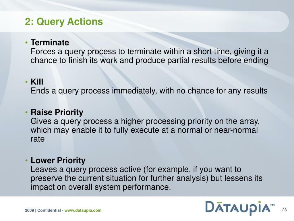 2: Query Actions