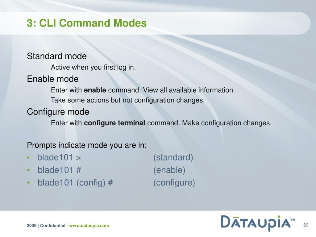 3: CLI Command Modes