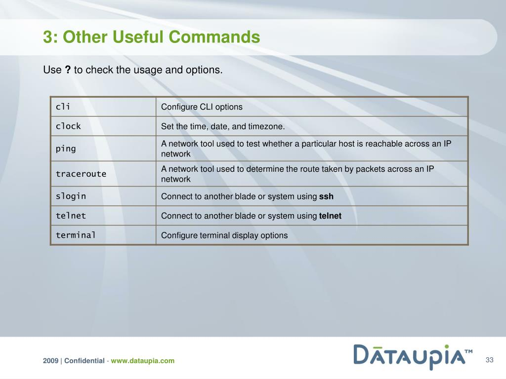 3: Other Useful Commands
