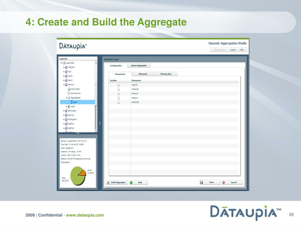 4: Create and Build the Aggregate