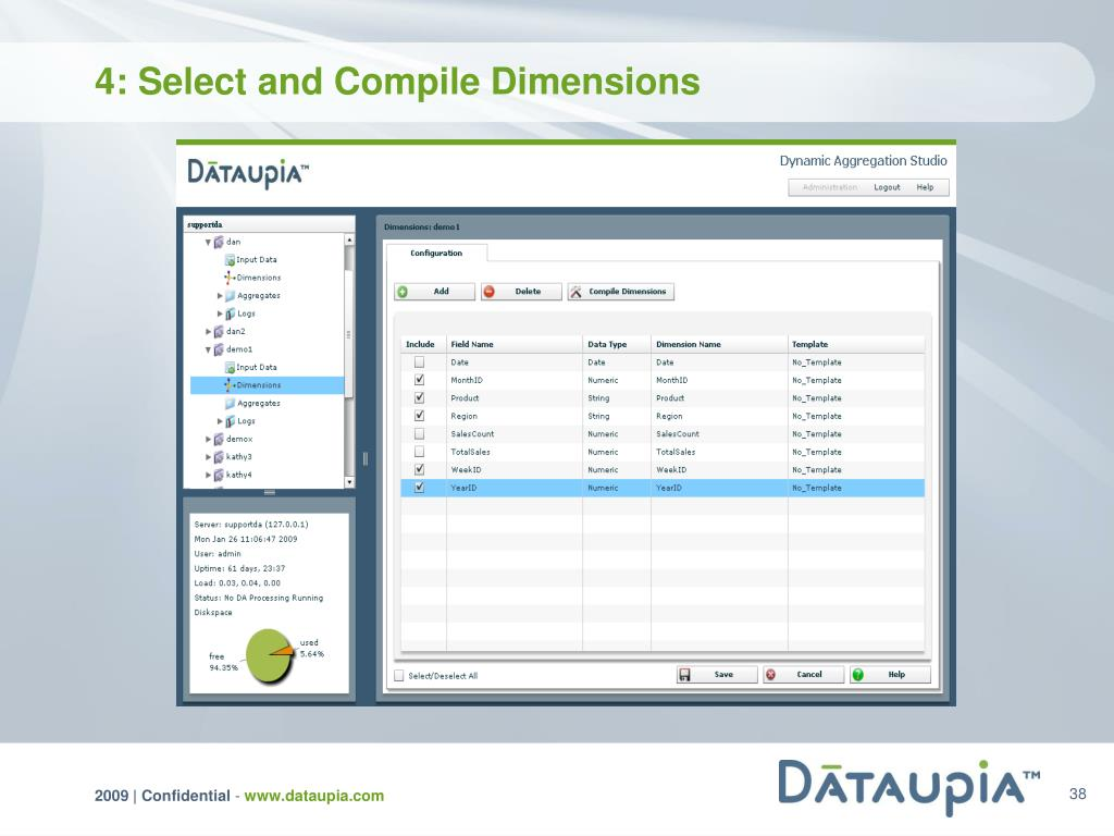4: Select and Compile Dimensions