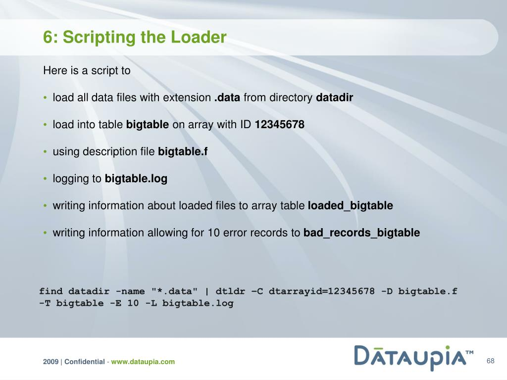 6: Scripting the Loader