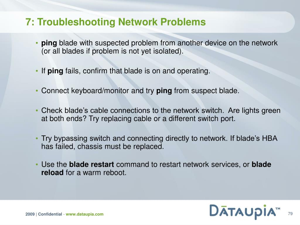 7: Troubleshooting Network Problems