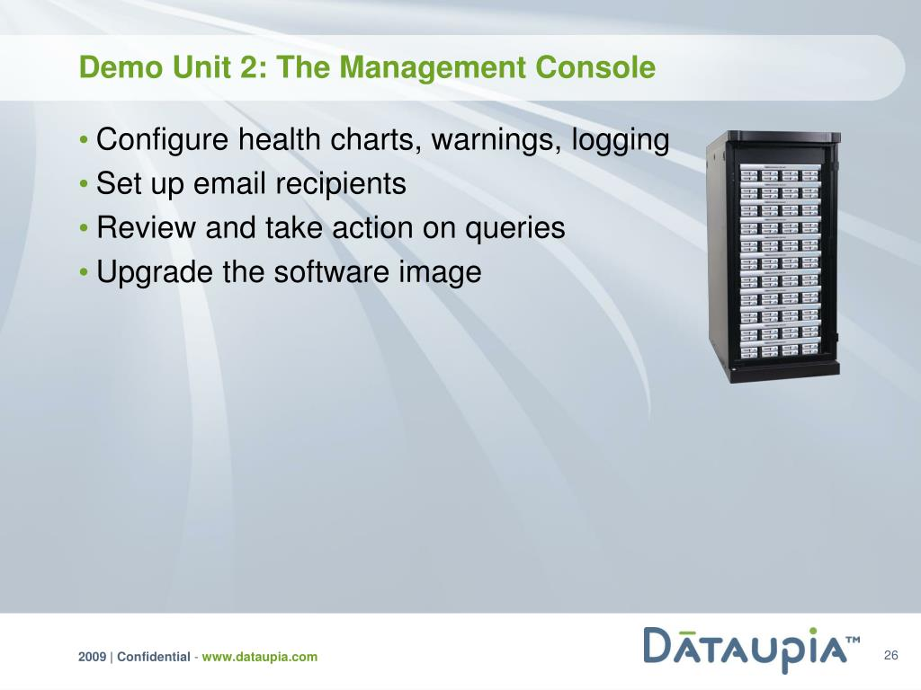 Demo Unit 2: The Management Console