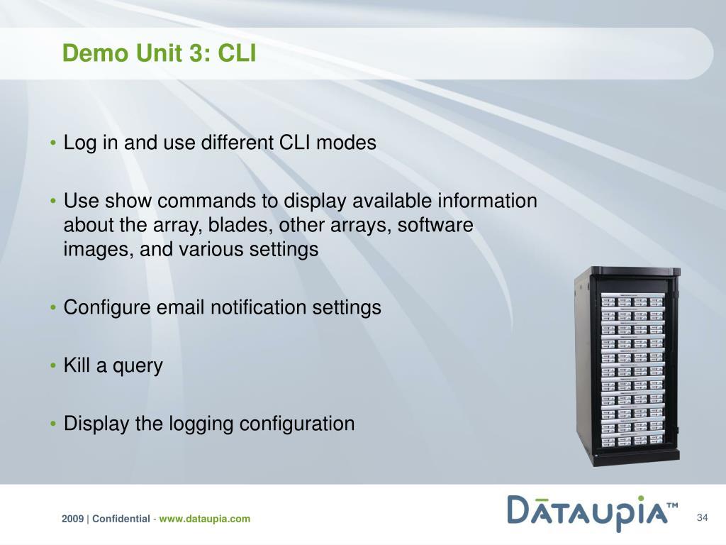 Demo Unit 3: CLI