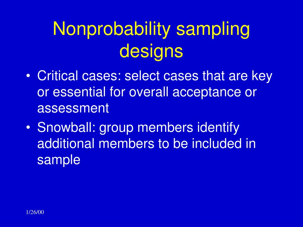 Nonprobability sampling designs