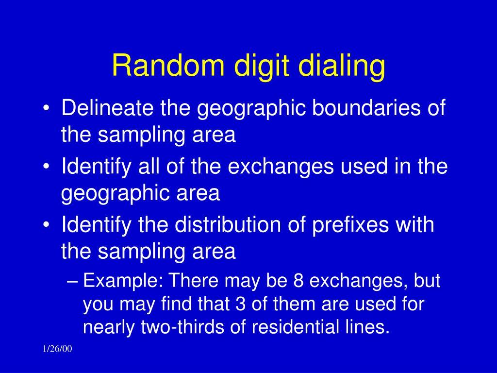 Random digit dialing