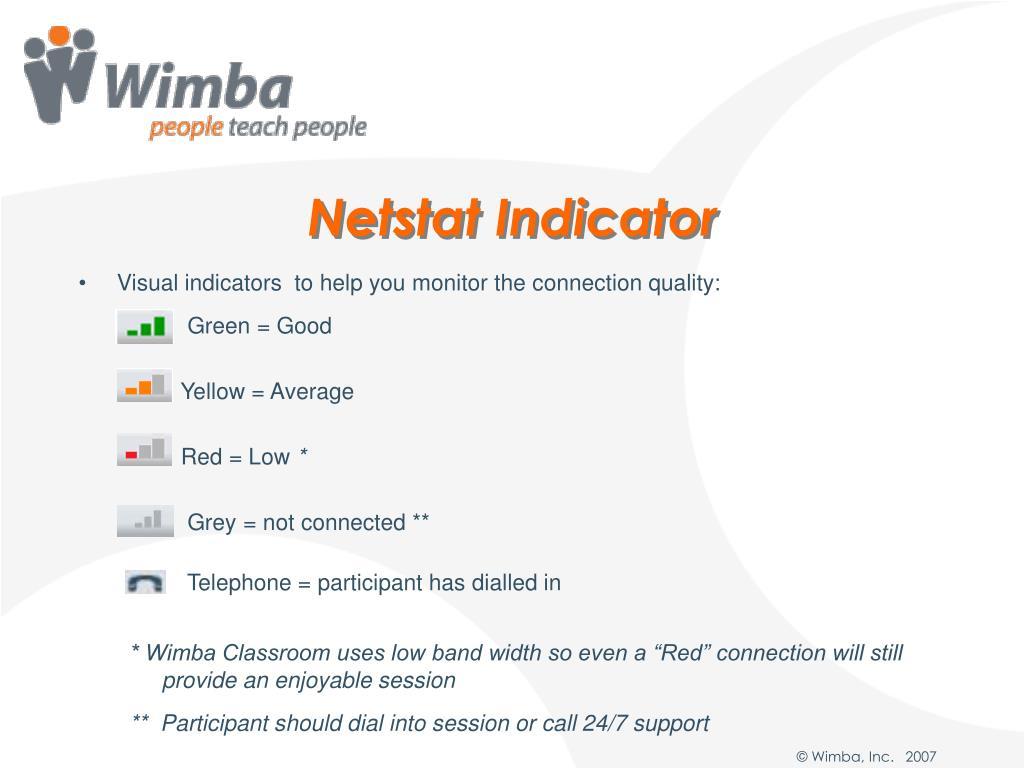 Netstat Indicator