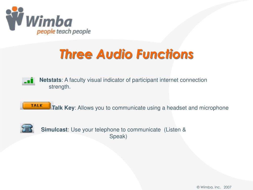 Three Audio Functions