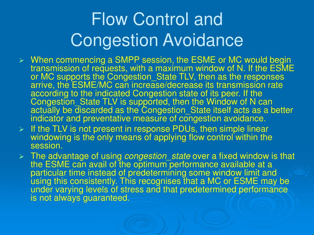 Flow Control and