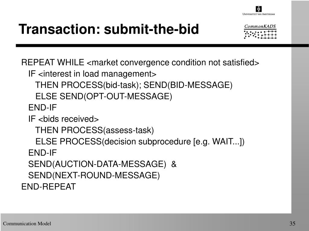 Transaction: submit-the-bid