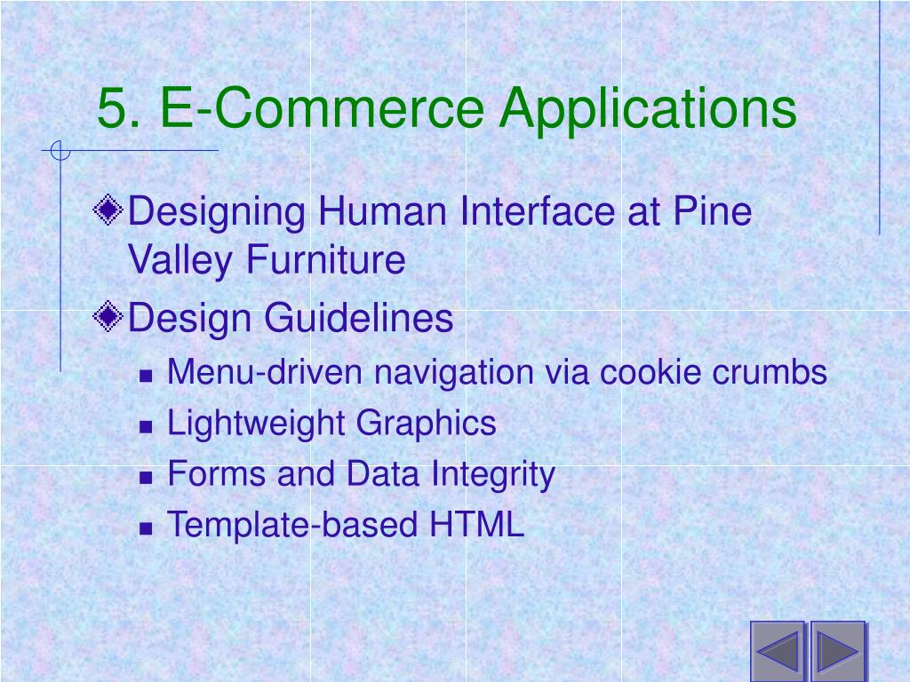 5. E-Commerce Applications