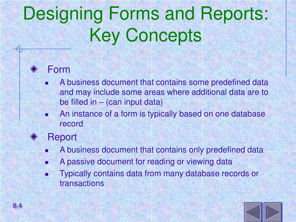 Designing Forms and Reports: