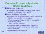 electronic commerce application design guidelines50