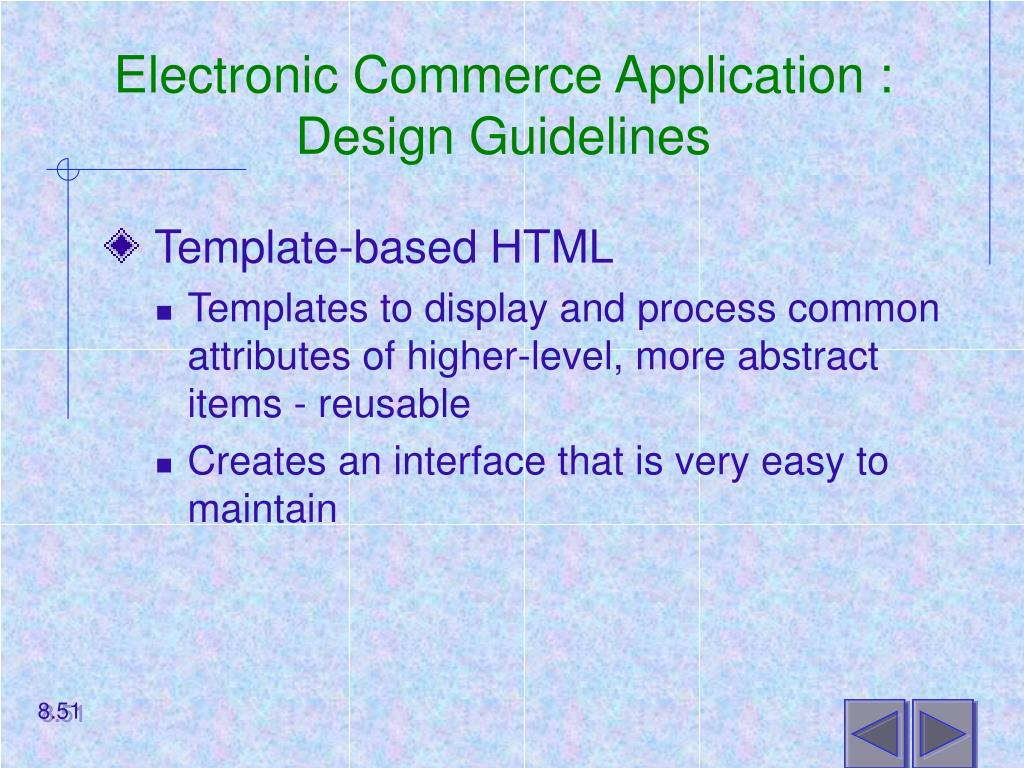 Electronic Commerce Application :