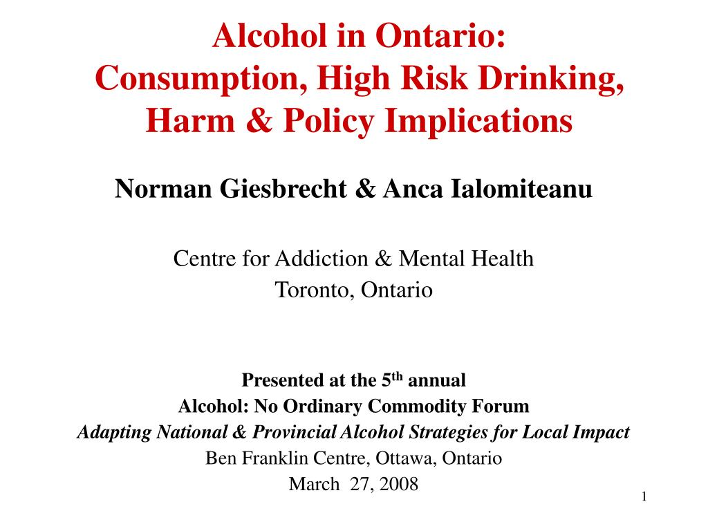 Alcohol in Ontario: